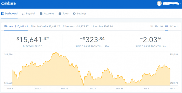 coinbase dashboard