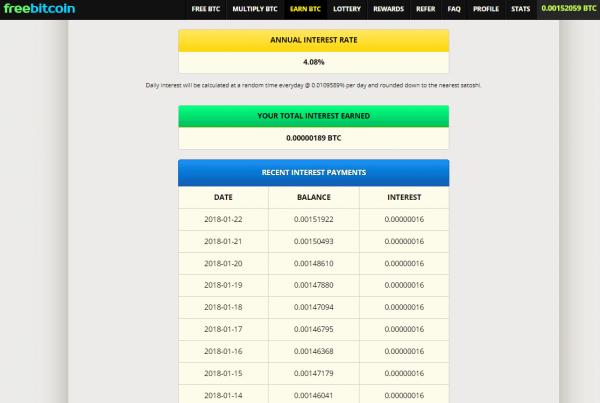 Freebitco.in Earn Bitcoin Interest