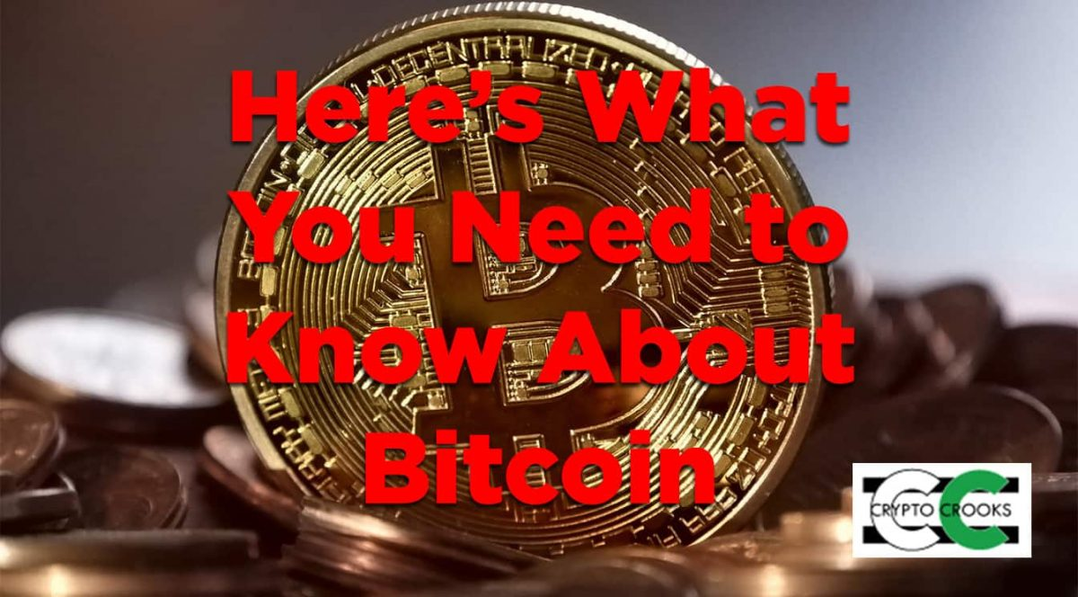 need to know bitcoin